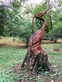 Don Becker heron sculpture