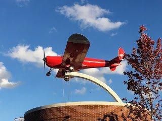 Riverdale Park Station airplane