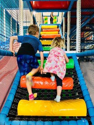Climbing ladder at Hyper Kidz Indoor Playground